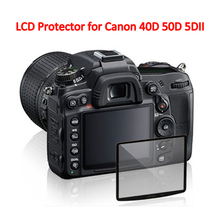 1Pcs Professional LCD Optical Glass Screen Protector for Canon 40D 50D 5DII Compact Glass Protective Film camera accessories
