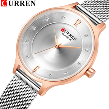 CURREN 9036 Fashion Casual Stainless Steel Mesh Watches Wome