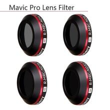 4 en 1 Ultra ligero ND4 ND8 ND16 ND32 Filtro de lente para DJI Mavic Pro Platinum Drone Cámara Neutral densidad filtros funda protectora