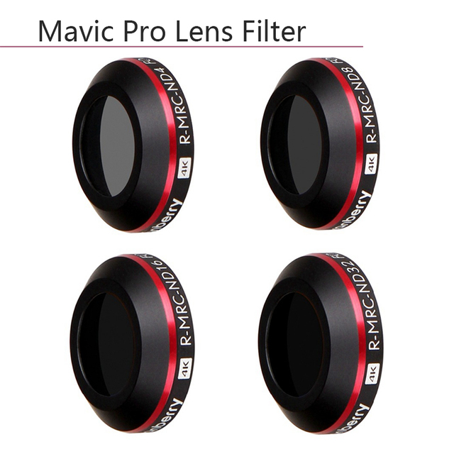 4 in 1 Ultra Light ND4 ND8 ND16 ND32 Lens Filter for DJI Mavic Pro Platinum Drone Camera Neutral Density Filters protective Case