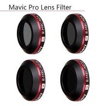 4 w 1 Ultra Light ND4 ND8 ND16 ND32 filtr obiektywu dla DJI Mavic Pro Platinum dron z kamerą filtry o gęstości obojętnej ochronne przypadku