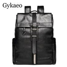 3813d86e9fe3 New Design PU Leather Men s Backpack School Bags College Students Backpack  Male Travel Bag Laptop Backpack Rucksack Daypack