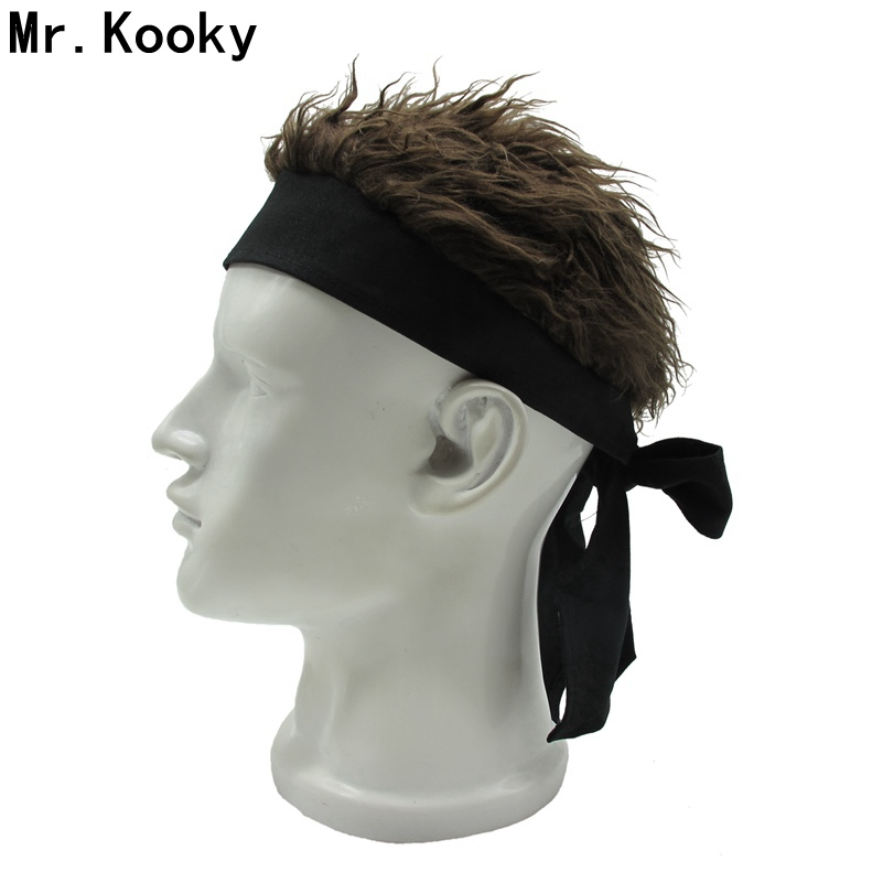 Mr.Kooky Novelty Unisex Billy Bob Fashion Gag Hat With Multiple Colors Fake Spiky Flair Hair Funny   Beanies   Tie cap Cool Wig Gift