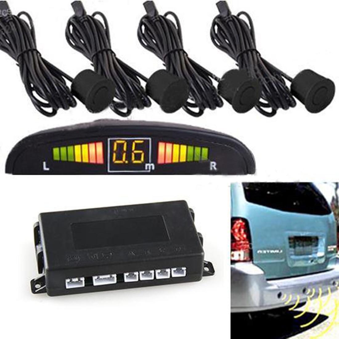 Car LED Parking Sensor With 4 Sensors DE Estacionamento Assist Reverse Backup Radar Monitor System Backlight Display Parktronic