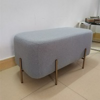 Nordic Furniture Living room love seat Sofa Ottoman bedroom Chair Bench/Dressing pouffe/Bedside Store Makeup Chair 90*45*42cm