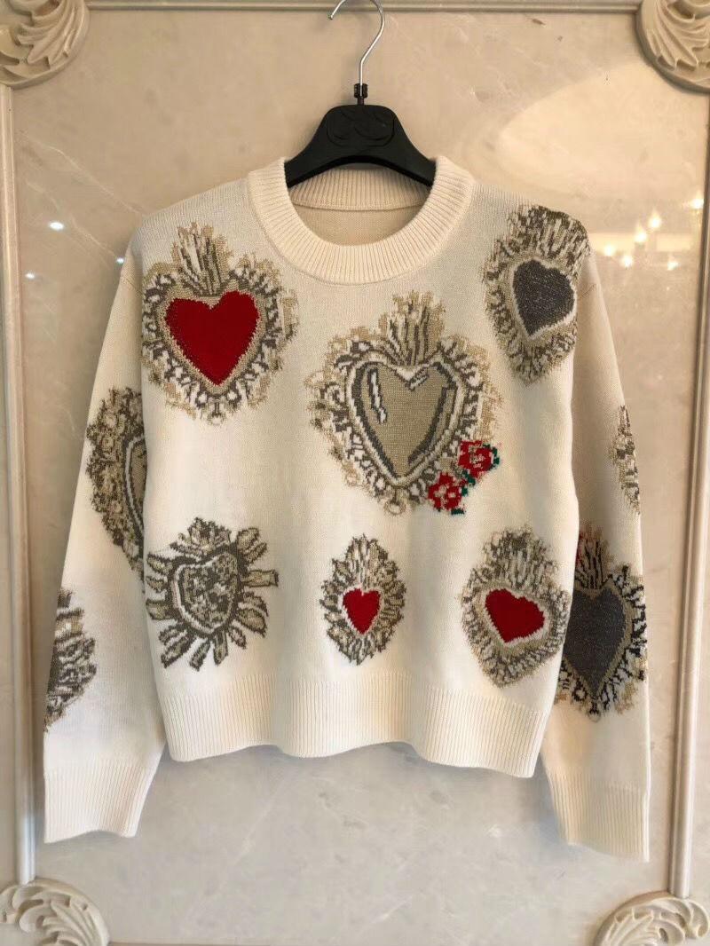 2018 зима новое поступление с длинными рукавами и круглым вырезом жаккардовые печати кашемировый пуловер женский свитер Бесплатная доставка