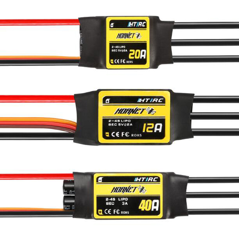 цена на 1PC Brushless ESC 12A 20A 30A 40A 60A 80A 2-3/4/6S Speed Control Linear BEC SBEC For Fixed Wing Helicopter RC Plane FPV Parts