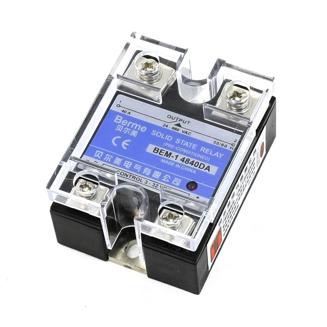 24-480V AC DC to 3-32VDC Output Single Phase SSR Solid State Relay 40A dc ac single phase ssr solid state relay 120a 3 32v dc 24 480v ac