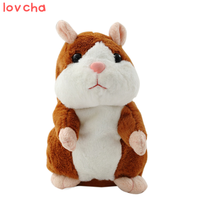 Talking Hamster Plush Toy Cute Speak Talking Sound Record Hamster Talking Toys for Children sale