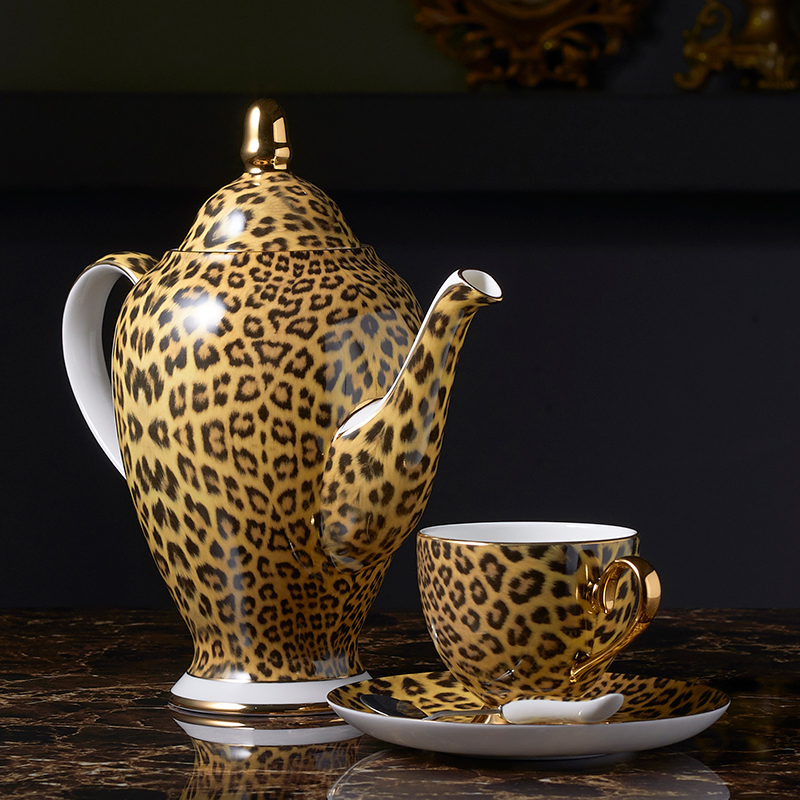 Luxury leopard mug set 2