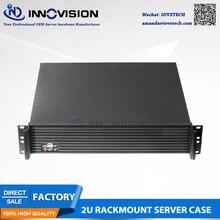 Chasis de montaje en bastidor estable 2U con panel frontal Al de alta calidad caja de ordenador Industrial