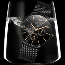 Mens Watches  Waterproof Ultra Thin LIGE9868