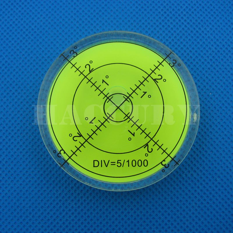 HACCURY 60 * 12mm Circular Bubble Level Spirit Level Round Bubble - Měřicí přístroje - Fotografie 2