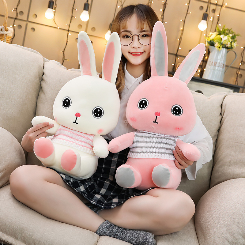 Kawaii Baby Play Soft Plush Toys High Quality Lovely Rabbit Appease Doll Decor For Children Kids Newyear Gift