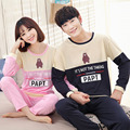 Couple Cotton Pijamas Sets tops with Trousers Lover Sleepwear Men & woman Casual Home wear sleepwear Clothes fits all seasons