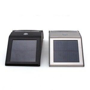 Нержавеющая сталь открытый солнечный датчик светодиодный свет PIR датчик движения Солнечная лампа дальность обнаружения С закатом-рассвет Темный свет безопасности