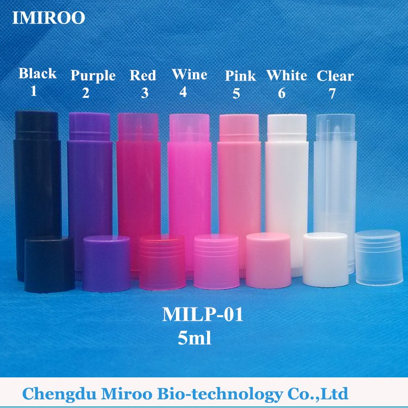Lip blam container colored_color number