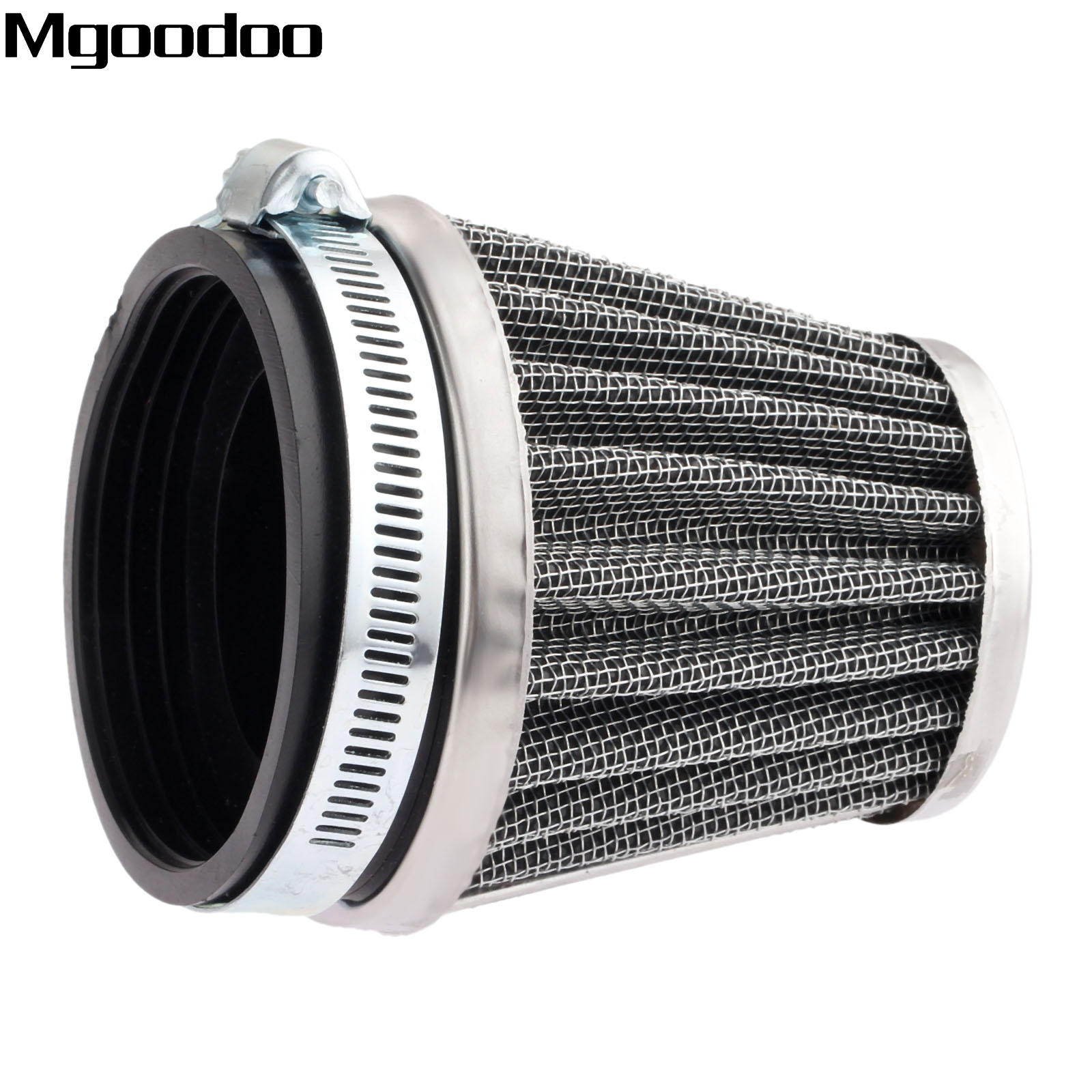 Mgoodoo 60mm Double Layer Steel Air Filter Gauze Clamp-on Cleaner Pods For Honda Kawasaki ATV Scooter Minibike Dirt Bike