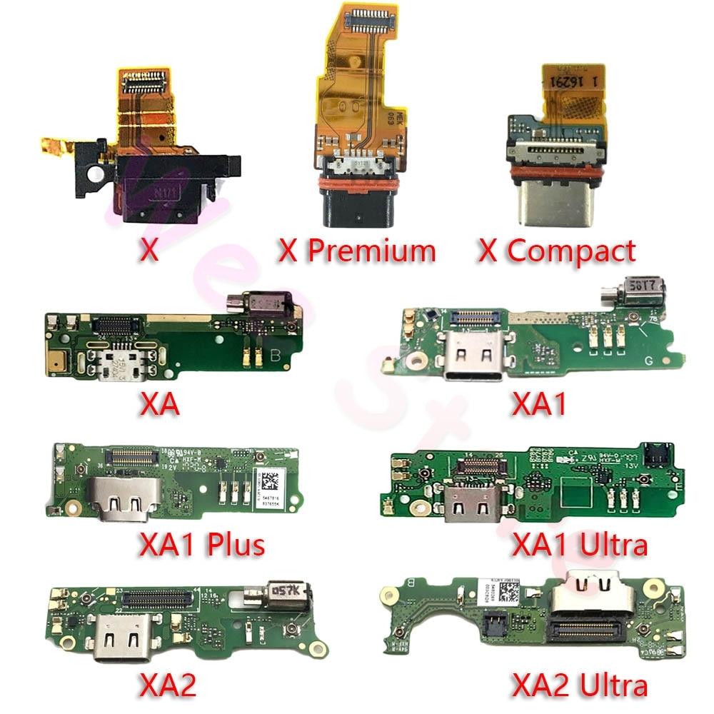 USB Charging Port Charger Dock Connector Flex Cable For Sony Xperia X XA XA1 XA2 XA3 1 2 3 Plus Ultra Compact Premium