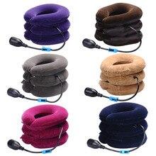 Inflatable Air Cervical Neck Traction Neck Massage Soft Brace Device Unit for Headache Head Back Shoulder