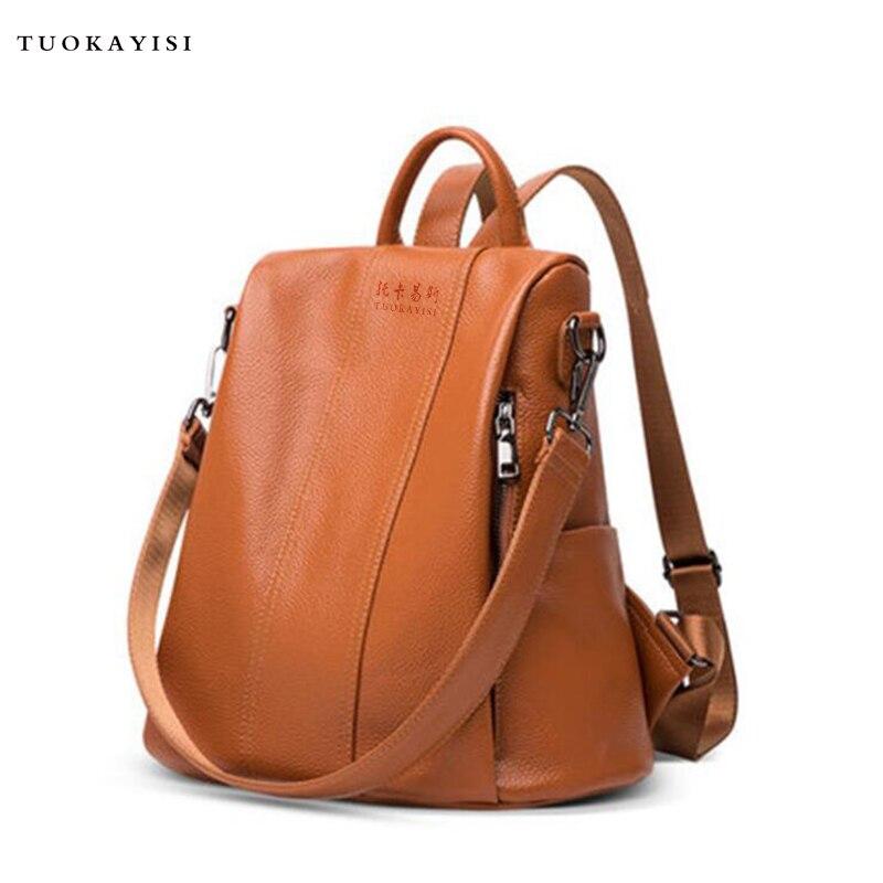 fdd2af0836d4 Women Backpacks School Backpack Bag Backpack small Soft leather female  shoulder bag Girl Chest bag travel