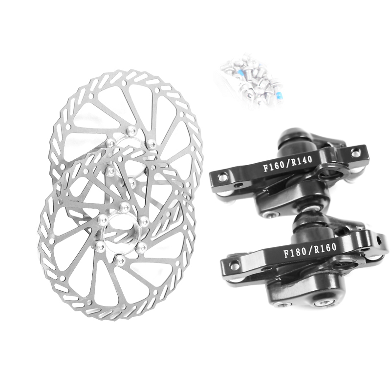 Stainless Steel Bicycle Disc <font><b>Brake</b></font> Set Kit Bike Rotor with Clipers Rear Wheel <font><b>Brake</b></font> F:180/ R:160 Front Wheel <font><b>Brake</b></font> F:160 R:140