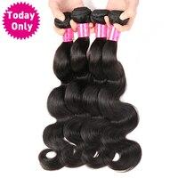 Today Only Brazilian Body Wave Hair Bundles 100 Human Hair Weaving Non Remy Brazilian Hair Weave