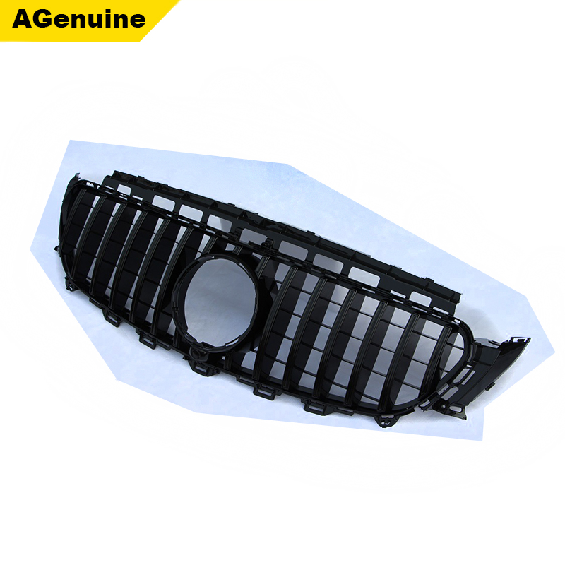 Chrome Auto Front Grill Grille Mesh For Mercedes Benz B: Chrome Gloss Black GT Style Facelift Car Front Bumper