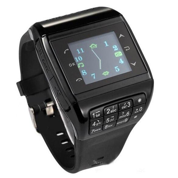 ФОТО Black Wrist Watch Cell Phone Dual SIM Card Quad-band Keypad Touch Screen Q3 Phone Watch For Men Women Gift  LL