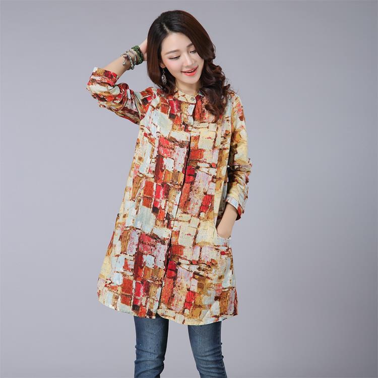 Aliexpress Com Buy Women Shirts 2017 Autumn Linen Women Tops Long