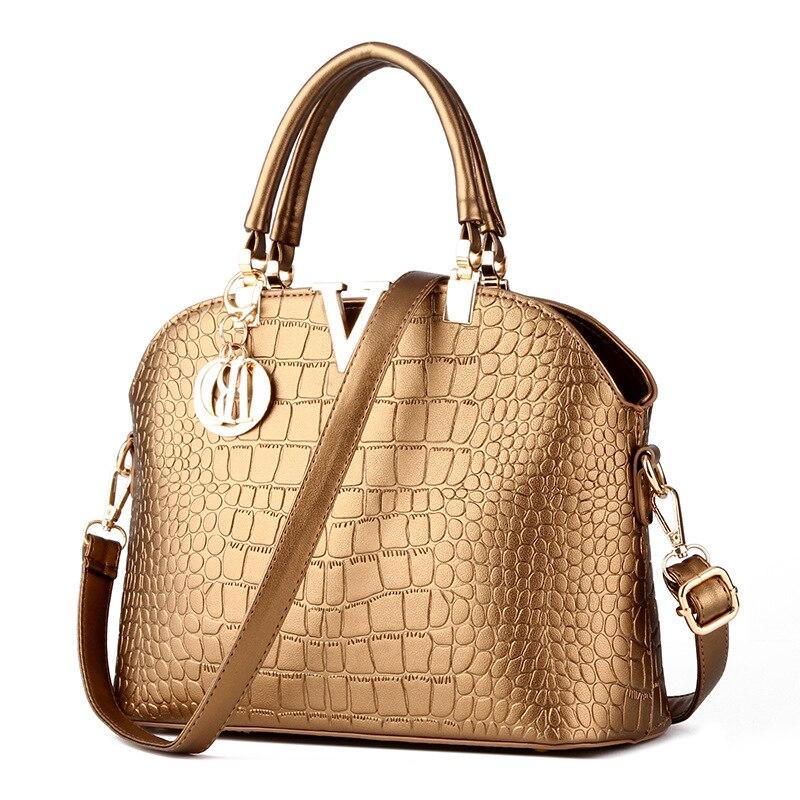 ФОТО Alligator Shell Handbags Black Women Bag PU Leather Shoulder Bags Messenger Bags Clutch Borse New  Brand Herald Fashion