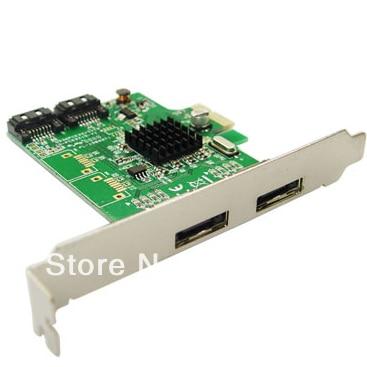 IOCREST PCI-Express slot 2 ESATA6G interface +2 SATA6G interface mixing array card SATA3.0 hybrid array card