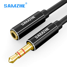 Samzhe 3.5mm Jack Aux Cable Audio Extension Cable cord 0.5m 1m 1.5m 2m 3m Male to Female for headphone Computer Mobile Phone