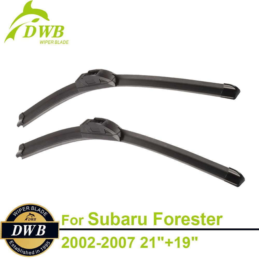 """Щетки стеклоочистителя для Subaru Forester 2002 2007 21 """"+ 19"""" 2 шт Бесплатная доставка"""