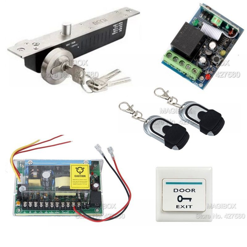 ACSS22  Remote Control Door Access Control System Kit +Electric Bolt Lock +Power Supply botticelli низкие кеды и кроссовки