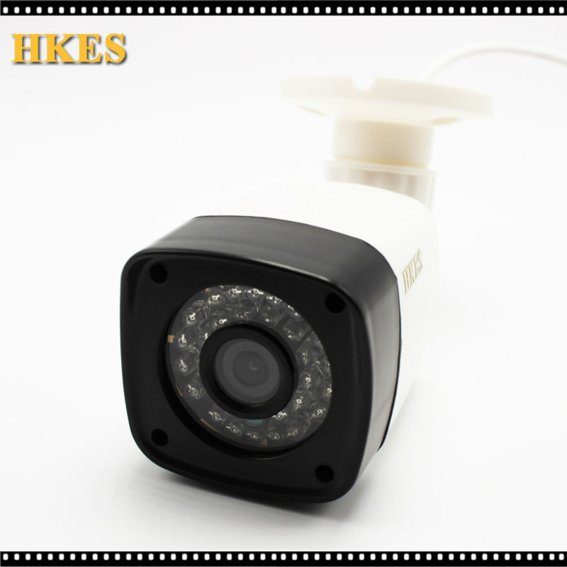 HKES HD IP Camera 1080P Outdoor Full HD Waterproof Bullet 3.6mm Lens IR Cut P2P ONVIF ABS Plastic Housing CCTV Camera System yunsye free shipping ip camera 1 3mp outdoor full hd waterproof bullet security 4mm lens ir cut p2p onvif ir 10m dome camera