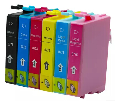 Compatible Epson LC 0771 0772 0773 0774 0775 0776 Ink Cartridge Fo Epson Stylus Photo RX595/Epson Artisan 50 Ink jet Printer