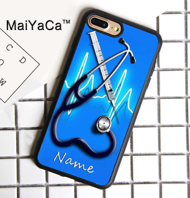 d891d41a76a MaiYaCa personalizada médico enfermera caso para cubierta iPhone 7 Plus TPU  funda accesorio para funda iPhone
