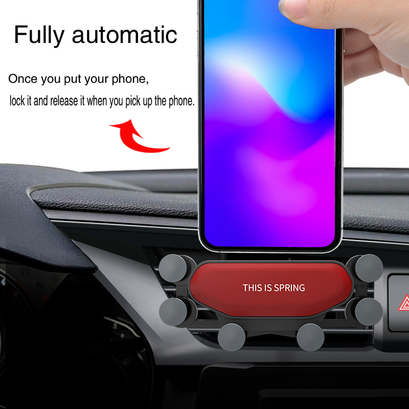 Image 2 - Car Phone Holder For Phone In Car Air Vent Mount Navigation Stand  Mobile Phone Holder Universal Gravity Smartphone Cell Support-in Universal Car Bracket from Automobiles & Motorcycles