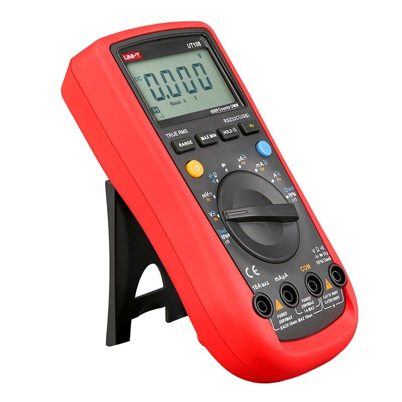 UT108 Digital Automotive Multimeter Handheld Automotive Multi-Purpose Meters Ammeter Ohm Volt Digital Universal Meter UNI-T  цены