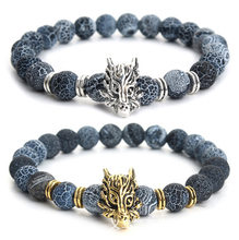 Buddha Bracelet Men Bracelets For Women Pulseira Masculina Mens Jewelry Dragon Bileklik Pulseira 8mm Elastic Braslet B53(China)