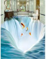 Custom photo wallpapers 3d flooring painting wallpaper Big waterfall water 3 d floor tile stereograph beauty Floor painting wall