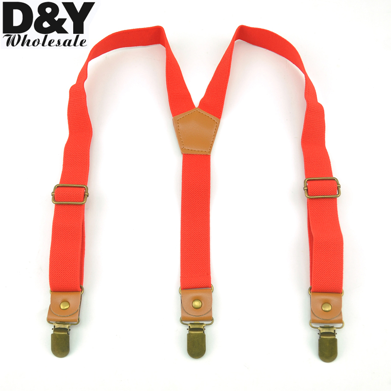 CLOSE OUT GOOD Clips KIDS Suspenders Red Color Children/Boys/Girls Suspender Elastic Braces Slim Suspender Y-Back Suspenders