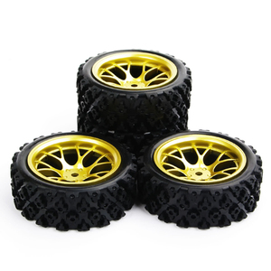Image 3 - 4pcs/set racing off road tires 12mm hex rubber tyre wheel rim fit for RC 1:10 vehicle car truck toys parts accessories