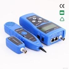 NF-308 Синий цвет мониторинг Сети кабельный тестер ЖК Провода Локатор ЛОКАЛЬНОЙ Сети Coacial BNC USB RJ45 RJ11