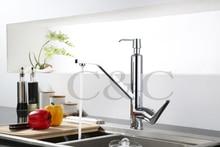 Современная Chrome Твердый Латунный Кухня Раковина Смеситель Кухонный Кран Тщеславия Кран С Мыла