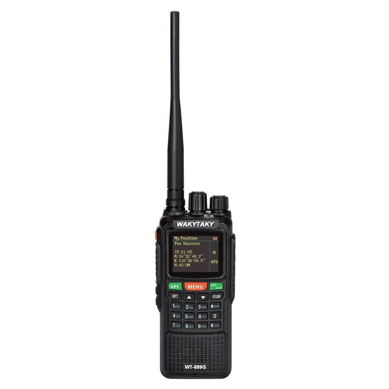 GPS Two Way Radio Dual Band Long Distance Walkie Talkie 10 KM 10W 999CH 3000Mah Handheld Ham Radio for Explore Hunting