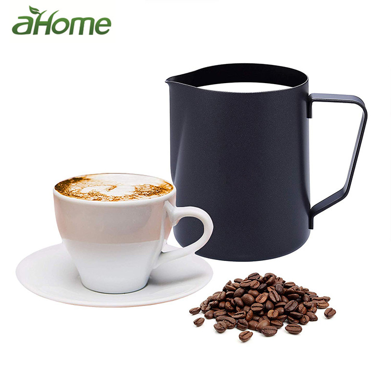 Black Stainless Steel Espresso Cup Milk Frother Coffee Cup