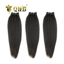 """QWB Kostenloser Versand Verworrene Gerade 3Bundle/Lots 12 ~ 22"""" Professional Verhältnis Brasilianische Reine Natur Farbe menschliches Haar Verlängerung"""