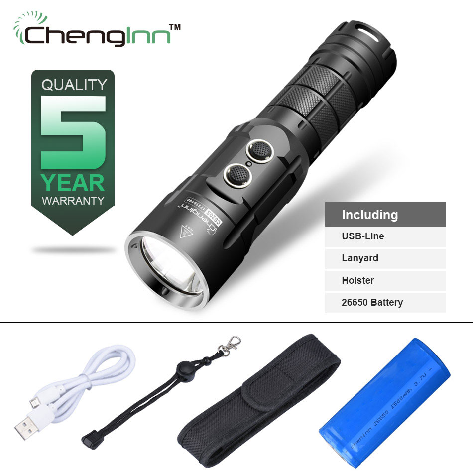 High beam usb Powerbank flashlight Strobe SOS Convoy Flashlight gladiator rechargeable cree Xm-l t6 1000LM LED Torch Chenglnn tt tf ths 02b hybrid style black ver convoy asia exclusive